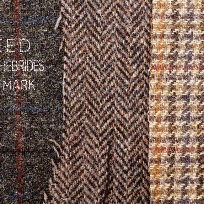 fabric sample of HarrisTweed