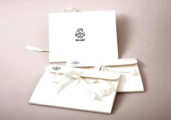Giftcard envelope with silk band, from wilgart