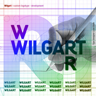 Logo typeface for the new name Wilgart