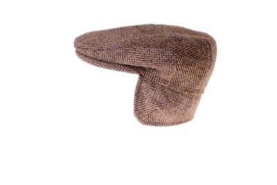 Sixpence kasket fra Wilgart i klassisk Harris Tweed med øreklapper