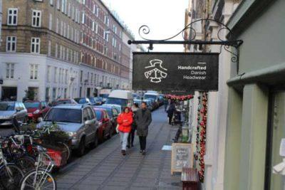 Opening new hatshop at Jægersborggade