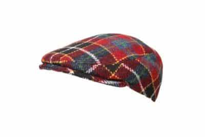 Skotsk ternet flatcap med en smal form. Harri Tweed