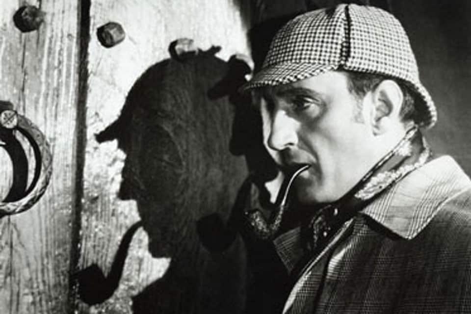 Basil Rathbone var Sherlock Holmes i filmene fra 1939 til 1946.