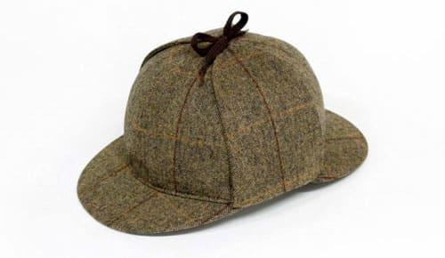 Sherlock Holmes cap fra vores tyske leverandør Herr Bullmann